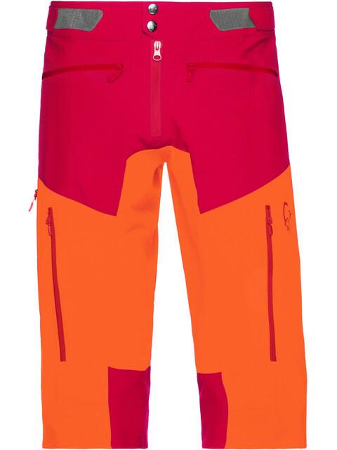 Norrøna Fjørå Flex1 - Bas de cyclisme Homme - orange/rouge